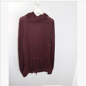 Maroon Lululemon Hooded Pullover Tunic Sweater